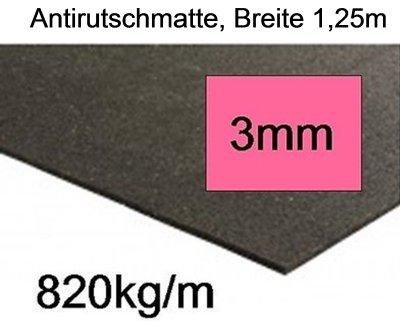 anntirutschmatte, Dicke 3mm, Breite 1,25m