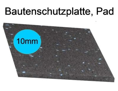 Bautenschutzplatte, Pad, Dicke 10mm, LxB : 20 x 20cm