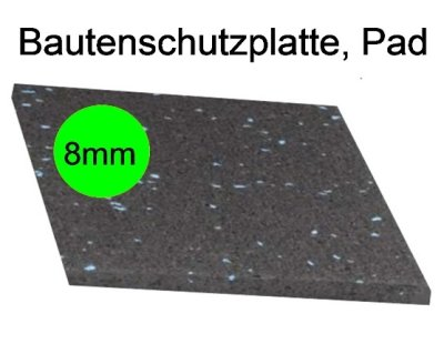 Bautenschutzplatte, Pad, Dicke 8mm, LxB : 20x20cm