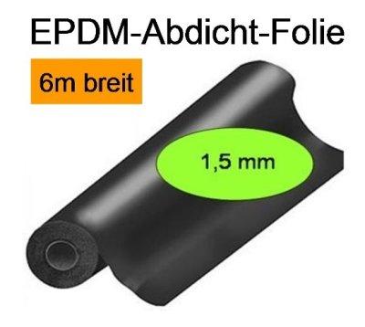EPDM-Folie, Dicke 1,5mm, 6m breit