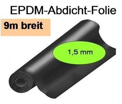 EPDM-Folie, Dicke 1,5mm, 9m breit