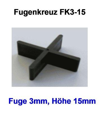 Fugenkreuz FK3-15-3mm-15mm