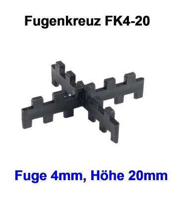 Fugenkreuz FK4-20-4mm-20mm
