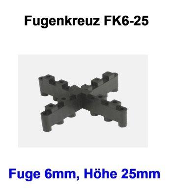 Fugenkreuz FK6-25-6mm-25mm