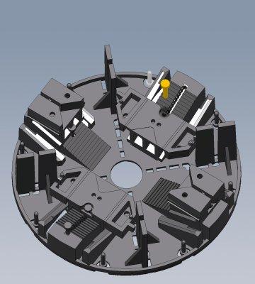 bau.con-Stelzlager-DD25.45ke-Höhe-20-30mm-höhenverstellbar