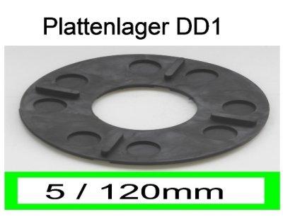 Plattenlager DD1, Höhe 5mm, Durchmesser 120mm