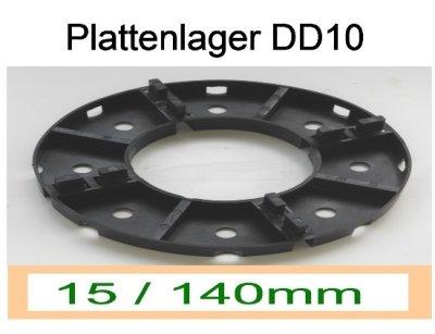 Plattenlager DD10, Höhe 15mm, Durchmesser 140mm