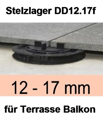 Stelzlager DD12.17f, Höhe 12-17mm, Durchmesser 150mm