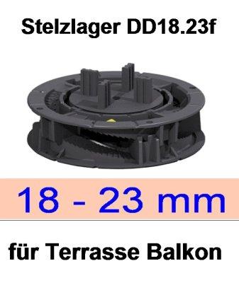 Stelzlager dd18.23f, Höhe 18-23mm, Durchmesser 150mm