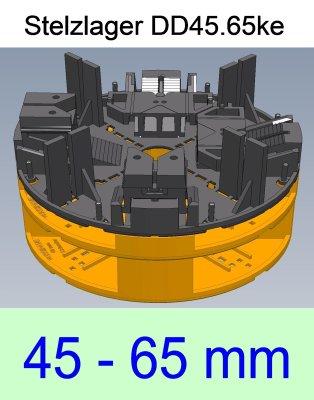 Stelzlager DD45.65ke, Höhe 45-65mm