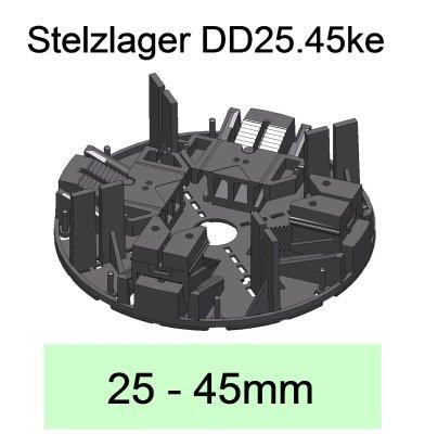 Stelzlager DD25.45ke, Höhe 25-45mm