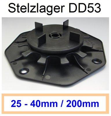 Stelzlager DD53, Höhe 25-40mm