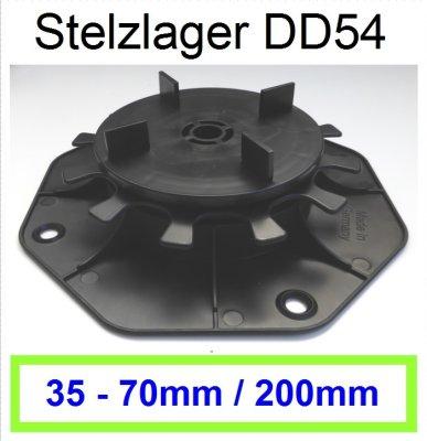 Stelzlager DD54, Höhe 35-70mm