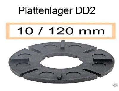 Plattenlager DD2 Höhe 10mm