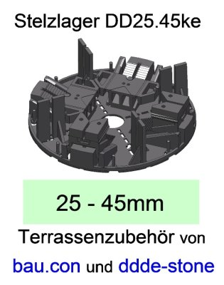 bau.con-Stelzlager-DD25.45ke-Höhe-25-45mm-höhenverstellbar