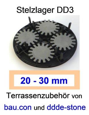 bau.con-Stelzlager-DD3-Höhe-20-30mm-höhenverstellbar