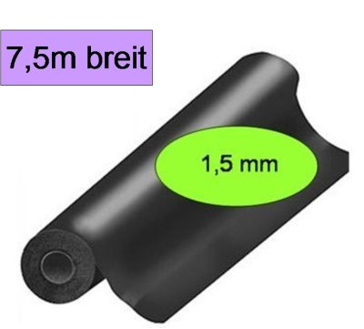 EPDM-Folie-Dicke 1,5mm-Breite-7,5m